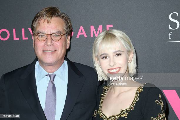 """Aaron Sorkin and Roxy Sorkin attend the New York premiere of """"Molly's Game"""" at AMC Loews Lincoln Square on December 13, 2017 in New York City."""