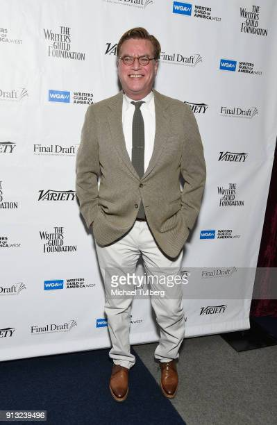 Aaron Sorkin attends the Writers Guild's 'Beyond Words 2018' at Writers Guild Theater on February 1 2018 in Beverly Hills California