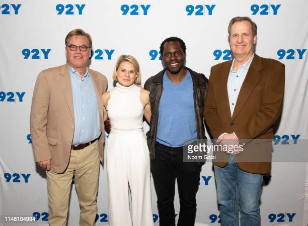 Aaron Sorkin Celia KeenanBolger Gbenga Akinnagbe and Jeff Daniels visit 92nd Street Y to discuss To Kill A Mockingbird on May 09 2019 in New York City