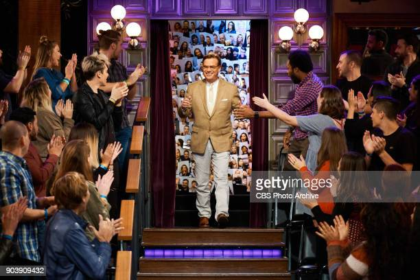Aaron Sorkin greets the audience during 'The Late Late Show with James Corden' Wednesday January 10 2018 On The CBS Television Network