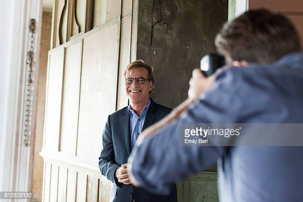 Aaron Sorkin is photographed behind the scenes of The Hollywood Reporter Drama Showrunner Roundtable for The Hollywood Reporter on April 17 2014 in...