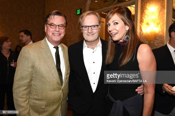 Aaron Sorkin Lawrence O'Donnell and Allison Janney attend The BAFTA Los Angeles Tea Party at Four Seasons Hotel Los Angeles at Beverly Hills on...
