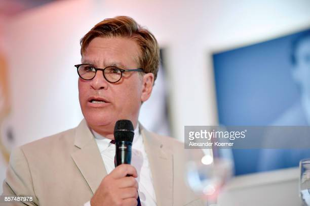 Aaron Sorkin speaks at the 'Molly's Game' press conference during the 13th Zurich Film Festival on October 4 2017 in Zurich Switzerland The Zurich...
