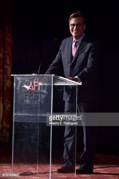 Aaron Sorkin speaks onstage at the screening of 'Molly's Game' at the Closing Night Gala at AFI FEST 2017 Presented By Audi at TCL Chinese Theatre on...