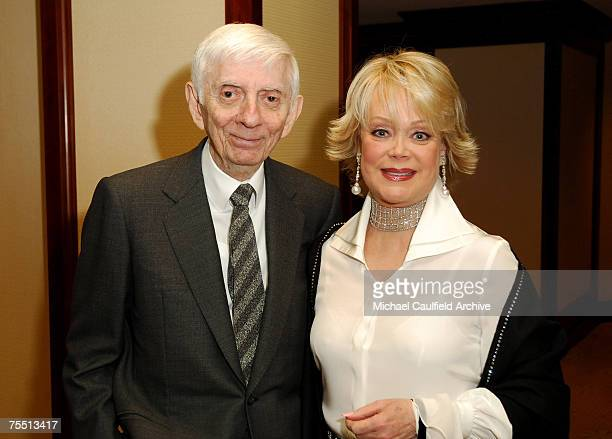 Aaron Spelling and Candy Spelling at the The Westin Century Plaza Hotel Spa in Century City California