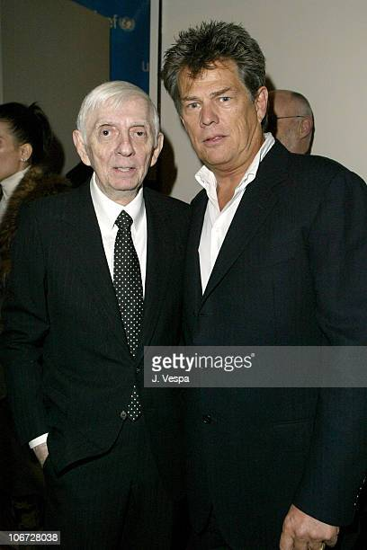 Aaron Spelling and David Foster during UNICEF Goodwill Gala Celebrating 50 Years of Celebrity Goodwill Ambassadors Backstage and Audience at Beverly...