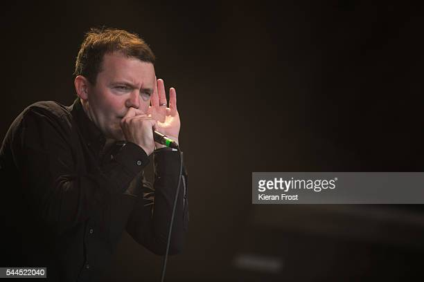 Aaron Starkie of The Slow Readers Club performs at CastlePalooza at Charville Castle on July 2, 2016 in Tullamore, Ireland.