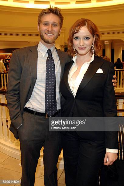 Aaron Staton and Christina Hendricks attend Brooks Brothers Mad Men at Brooks Brothers on October 20 2008 in Beverly Hills CA
