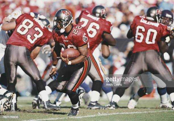 Aaron Stecker Running Back for the Tampa Bay Buccaneers during the National Football Conference Central game against the Minnesota Vikings on 28...