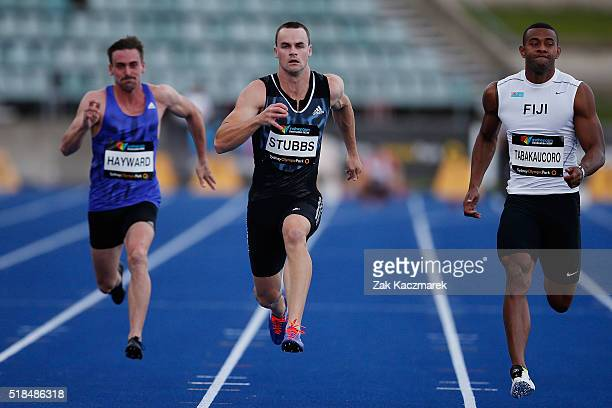Aaron Stubbs of Queensland competes in the Men's 100m Heats during the Australian Athletics Championships at Sydney Olympic Park on April 1 2016 in...