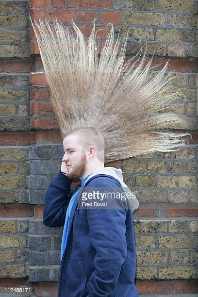 Aaron Studham from Massachussetts quality for an entry in the 2007 edition of Guinness World Records Aaron has a 5335 cm high mohican