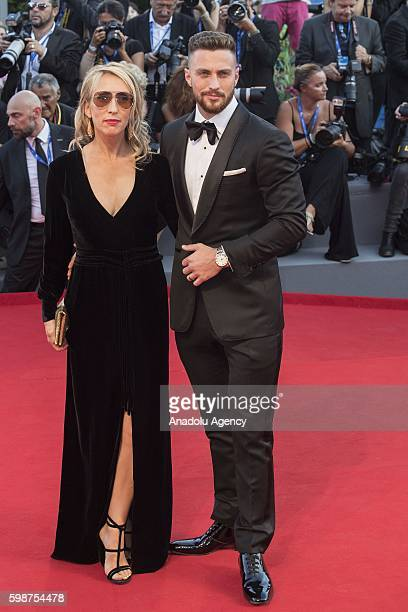 Aaron Taylor Johnson and wife Sam TaylorJohnson attend the red carpet of Tom Ford's movie 'Nocturnal Animals' during 73rd Venice Film Festival at...
