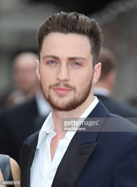 Aaron Taylor Johnson attends the European premiere of Godzilla at Odeon Leicester Square on May 11 2014 in London England