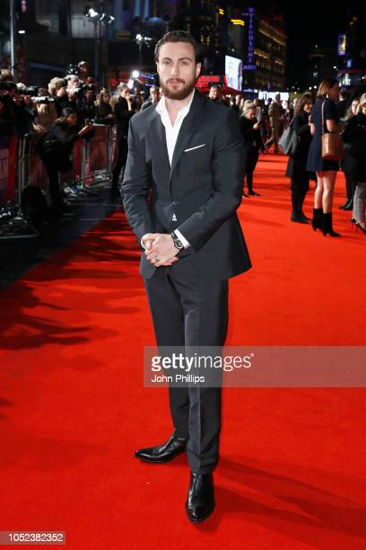 Aaron Taylor Johnson attends the European Premiere of Outlaw King Headline gala during the 62nd BFI London Film Festival on October 17 2018 in London...