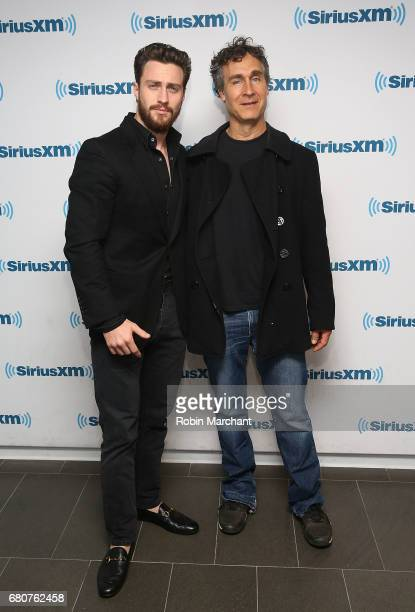 Aaron TaylorJohnson and Doug Liam visit at SiriusXM Studios on May 9 2017 in New York City