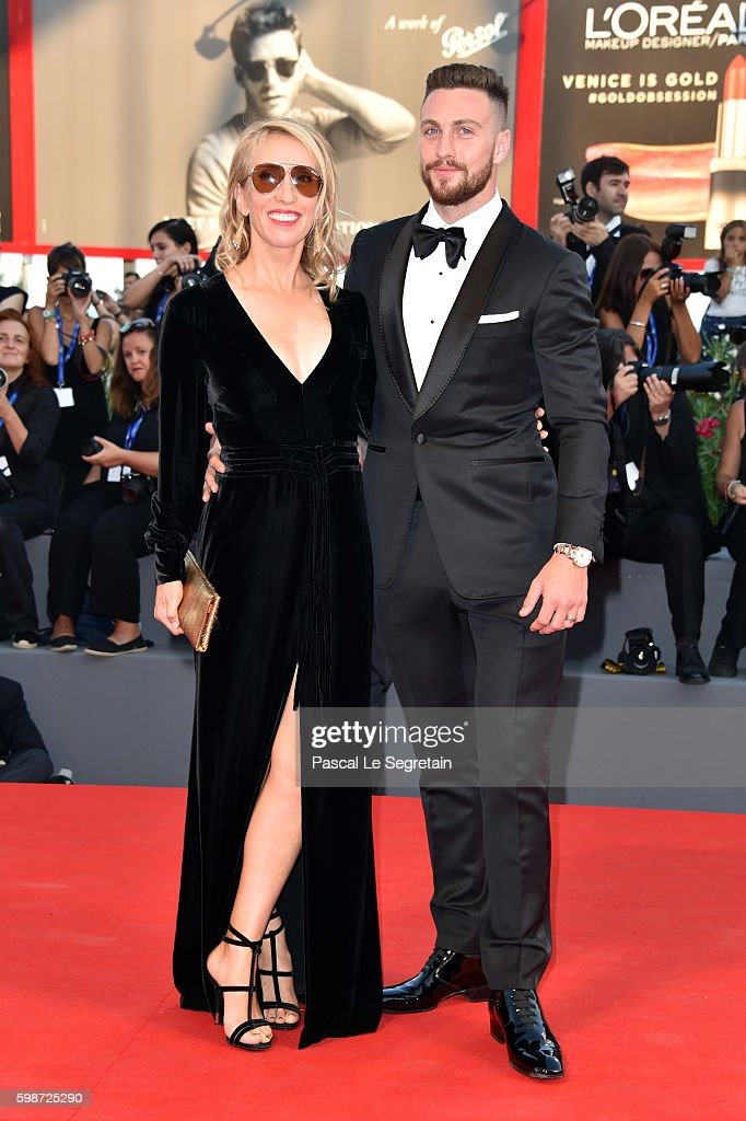 Aaron Taylor-Johnson and Sam Taylor-Johnson attend the premiere of 'Nocturnal Animals' during the 73rd Venice Film Festival at Sala Grande on September 2, 2016 in Venice, Italy.