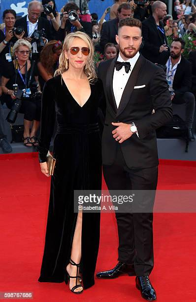 Aaron TaylorJohnson and Sam TaylorJohnson attend the premiere of 'Nocturnal Animals' during the 73rd Venice Film Festival at Sala Grande on September...