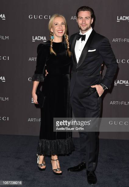 Aaron TaylorJohnson and wife Sam TaylorJohnson attend the 2018 LACMA Art Film Gala at LACMA on November 03 2018 in Los Angeles California