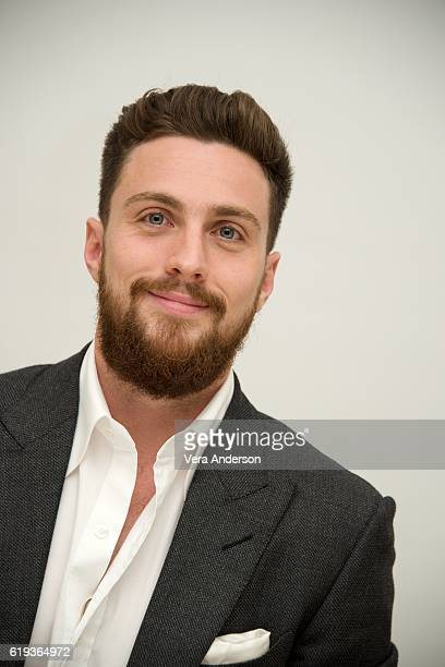 Aaron TaylorJohnson at the 'Nocturnal Animals' Press Conference at the Four Seasons Hotel on October 28 2016 in Beverly Hills California