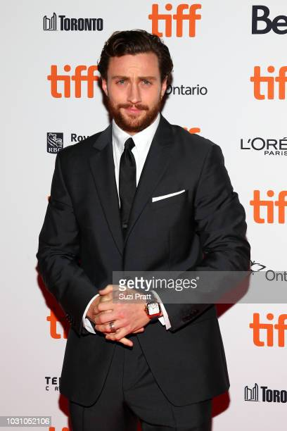 Aaron TaylorJohnson attends the 'A Million Little Pieces' premiere during 2018 Toronto International Film Festival at Ryerson Theatre on September 10...