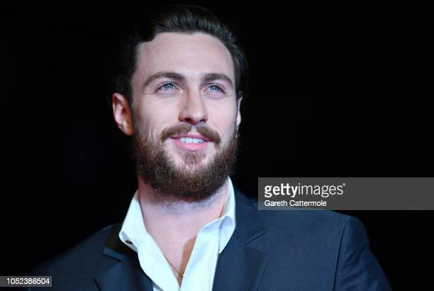 Aaron TaylorJohnson attends the European Premiere of Outlaw King Headline gala during the 62nd BFI London Film Festival on October 17 2018 in London...