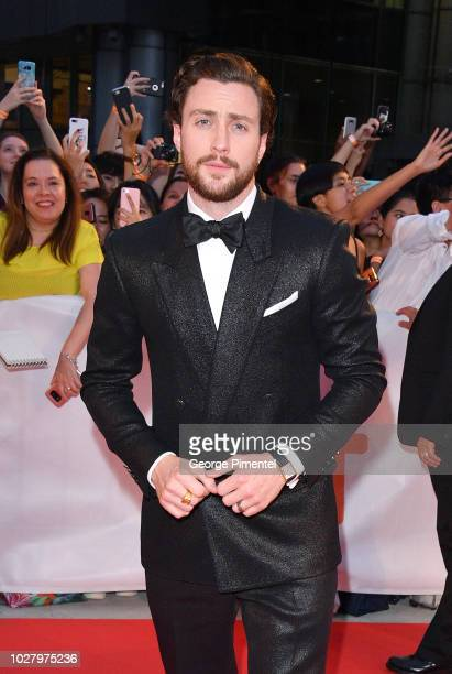Aaron TaylorJohnson attends the Outlaw King premiere during the 2018 Toronto International Film Festival at Roy Thomson Hall on September 6 2018 in...