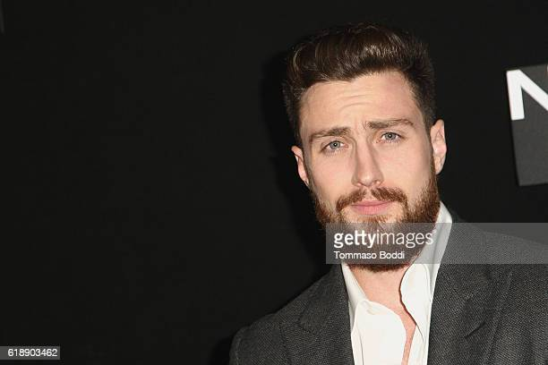 Aaron TaylorJohnson attends the photo call for Focus Features' 'Nocturnal Animals' at Four Seasons Hotel Los Angeles at Beverly Hills on October 28...