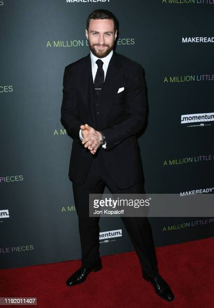 """Aaron Taylor-Johnson attends the Special Screening Of Momentum Pictures' """"A Million Little Pieces"""" at The London Hotel on December 04, 2019 in West..."""