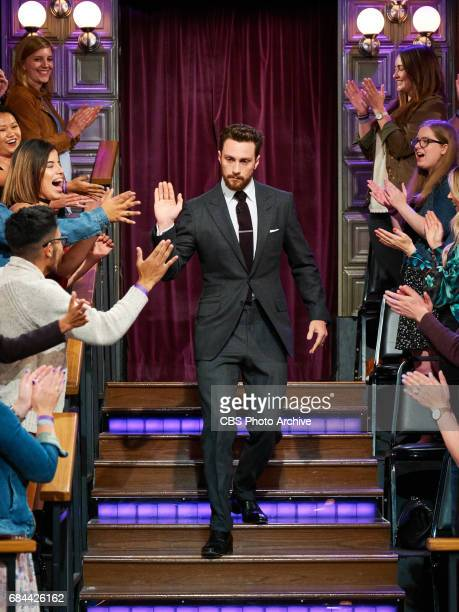 Aaron TaylorJohnson greets the audience during The Late Late Show with James Corden Monday May 15 2017 On The CBS Television Network