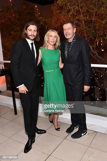 "Aaron Taylor-Johnson, Sam Taylor-Johnson and Creative Director of Bottega Veneta, Tomas Maier attend Hammer Museum's ""Gala in the Garden"" Sponsored..."
