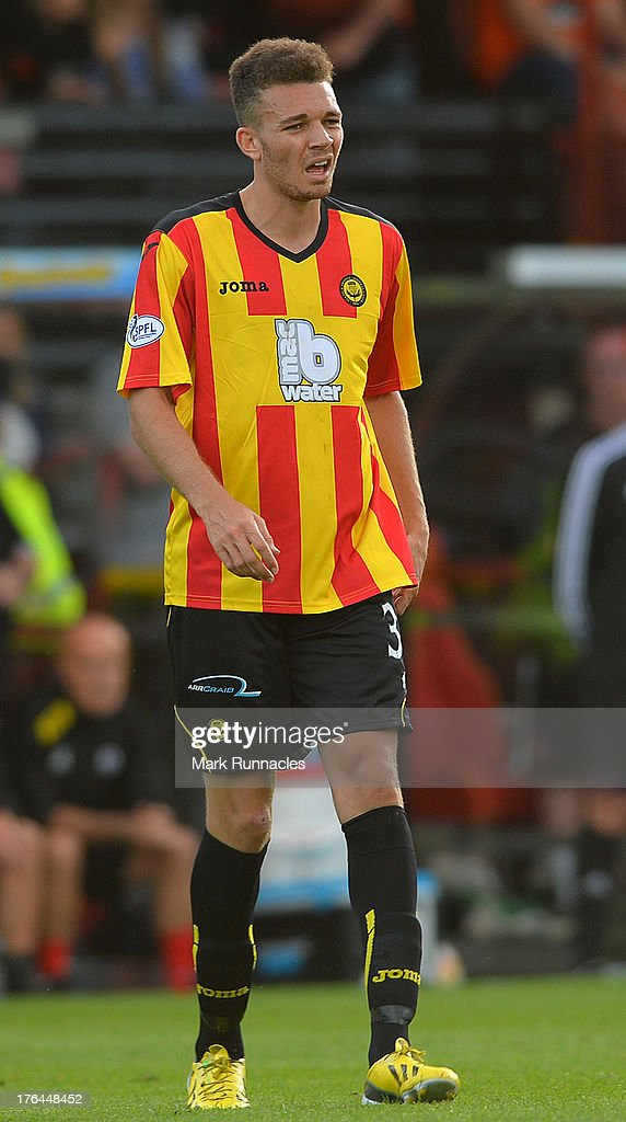 Aaron Taylor-Sinclair of Partick Thistle in action during the Scottish Premiership League match between Partick Thistle and Dundee United at Firhill Stadium on August 02, 2013 in Glasgow, Scotland.