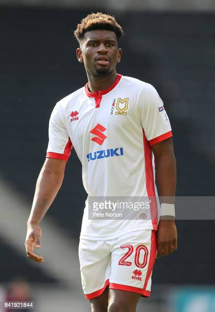 Aaron Tshibola of Milton Keynes Dons during the Sky Bet League One match between Milton Keynes Dons and Oxford United at StadiumMK on September 2...