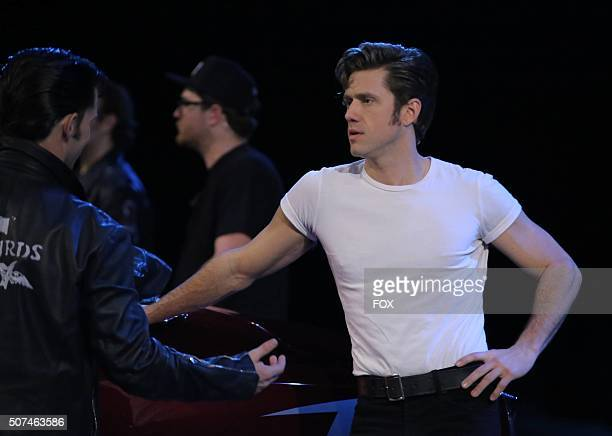 LIVE Aaron Tveit as 'Danny Zuko rehearses for GREASE LIVE airing LIVE Sunday Jan 31 on FOX