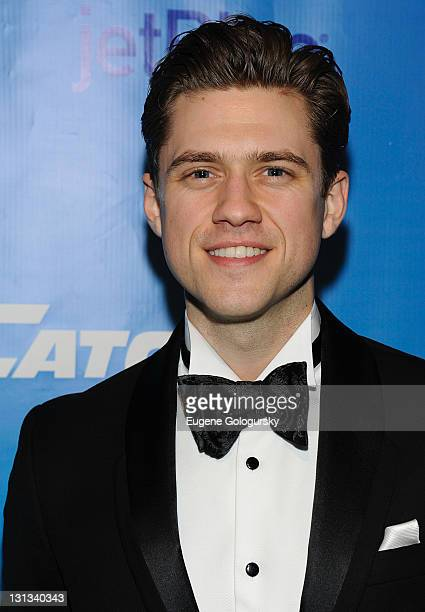 Aaron Tveit attends the after party for the Broadway opening night of Catch Me If You Can at Cipriani 42nd Street on April 10 2011 in New York City