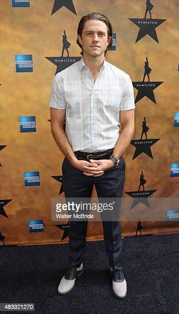 Aaron Tveit attends the Broadway Opening Night Performance of 'Hamilton' at the Richard Rodgers Theatre on August 6 2015 in New York City