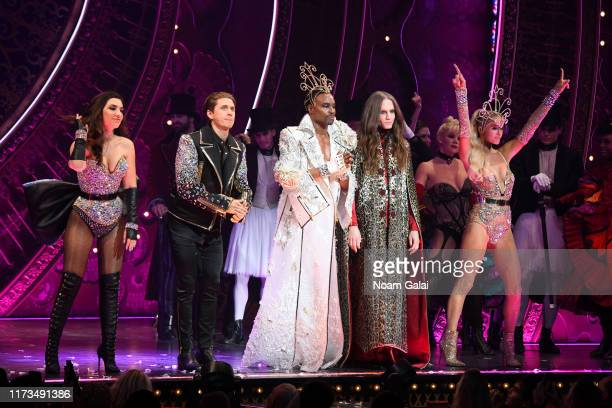 Aaron Tveit Billy Porter Jordan Roth and Paris Hilton walk the runway during The Blonds x Moulin Rouge The Musical during New York Fashion Week The...