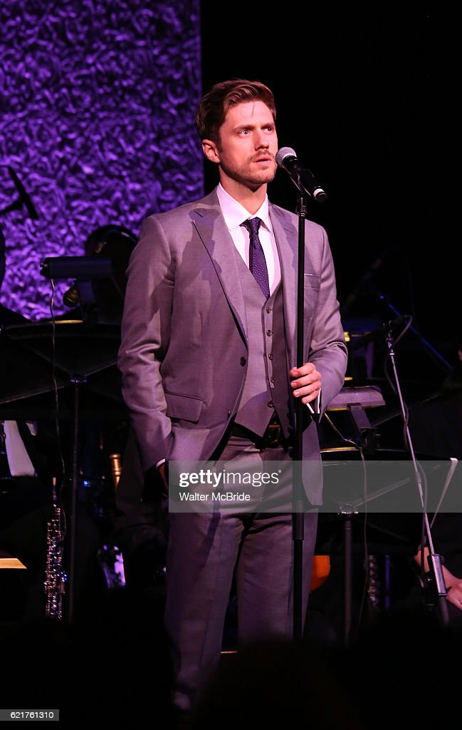 Aaron Tveit during the Dramatists Guild Fund Gala 'Great Writers Thank Their Lucky Stars : The Presidential Edition' presentation at Gotham Hall on November 7, 2016 in New York City.