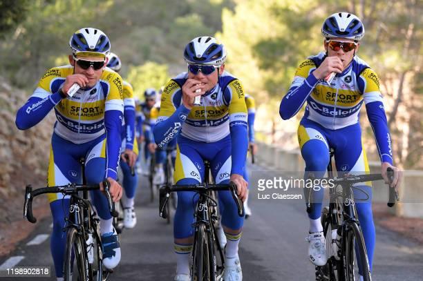 Aaron Van Poucke of Belgium and Team Sport Vlaanderen Baloise / Thimo Willems of Belgium and Team Sport Vlaanderen Baloise / Julian Mertens of...