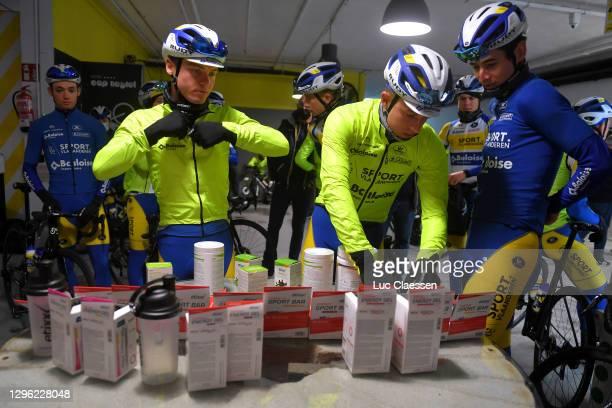 Aaron Verwilst of Belgium, Thimo Willems of Belgium, Robbe Ghys of Belgium & Cédric Beullens of Belgium and Sport Vlaanderen - Baloise / Etixx Sports...