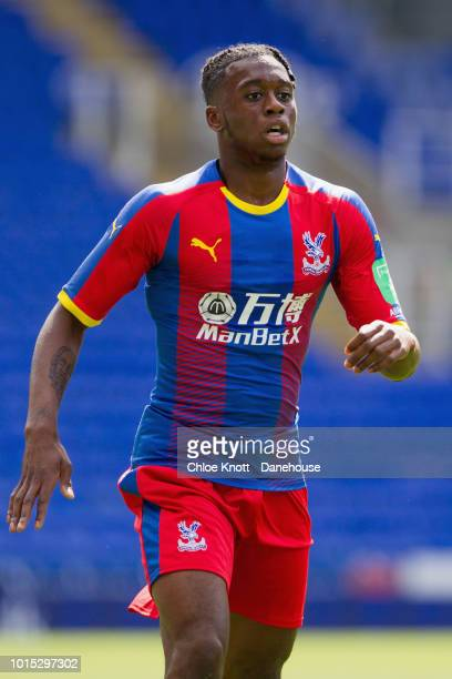 Aaron WanBissaka of Crystal Palace during a preseason friendly match between Reading and Crystal Palace at Madejski Stadium on July 28 2018 in...