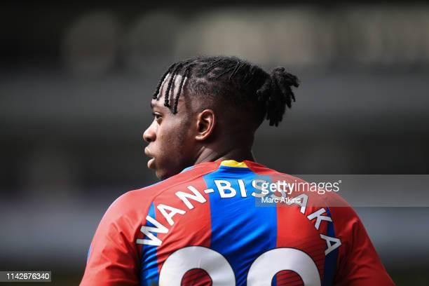 Aaron WanBissaka of Crystal Palace during the Premier League match between Crystal Palace and Manchester City at Selhurst Park on April 14 2019 in...