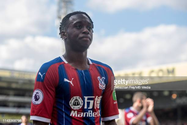 Aaron Wan-Bissaka of Crystal Palace looks on during the Premier League match between Crystal Palace and AFC Bournemouth at Selhurst Park on May 12,...