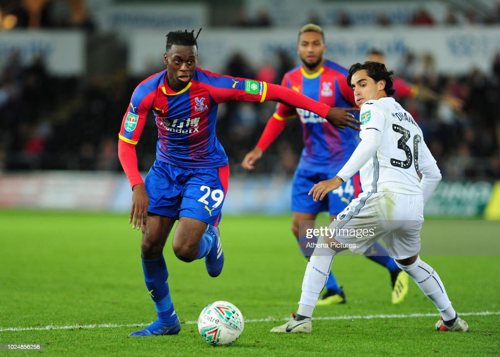 Swansea City v Crystal Palace - Carabao Cup Second Round : News Photo
