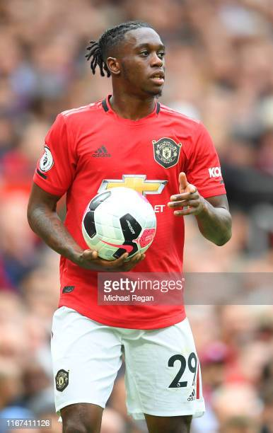 Aaron Wan-Bissaka of Manchester United in action during the Premier League match between Manchester United and Chelsea FC at Old Trafford on August...