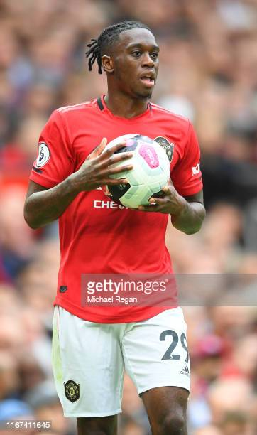 Aaron WanBissaka of Manchester United in action during the Premier League match between Manchester United and Chelsea FC at Old Trafford on August 11...