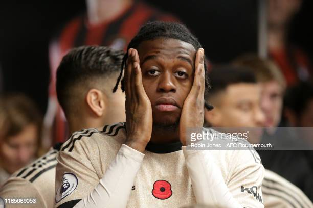Aaron WanBissaka of Manchester United in the tunnel before the Premier League match between AFC Bournemouth and Manchester United at Vitality Stadium...