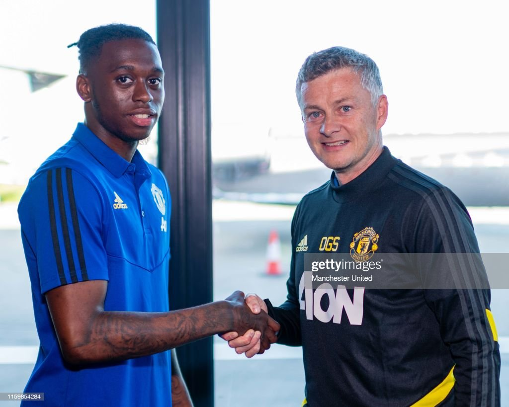 Manchester United Unveil New Signing Aaron Wan-Bissaka : News Photo