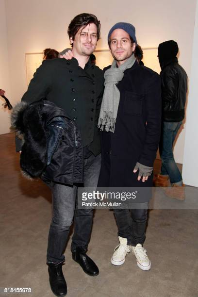 Aaron Ward and Peter Makebish attend PATTI SMITH and STEVEN SEBRING OBJECTS OF LIFE Opening Reception at Robert Miller Gallery on January 6 2010 in...