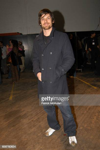 Aaron Ward attends Marc Jacobs Fall 2004 Collection Show at The New York State Armory on February 9 2004 in New York City