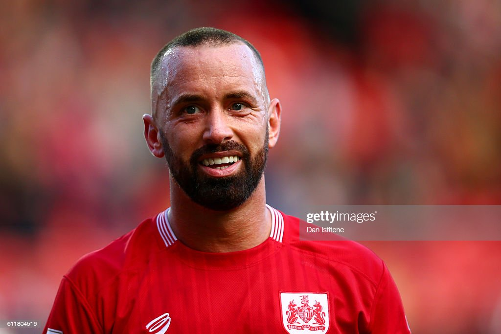 Aaron Wilbraham of Bristol City celebrates victory in the Sky Bet Championship match between Bristol City and Nottingham Forest at Ashton Gate on October 1, 2016 in Bristol, England.